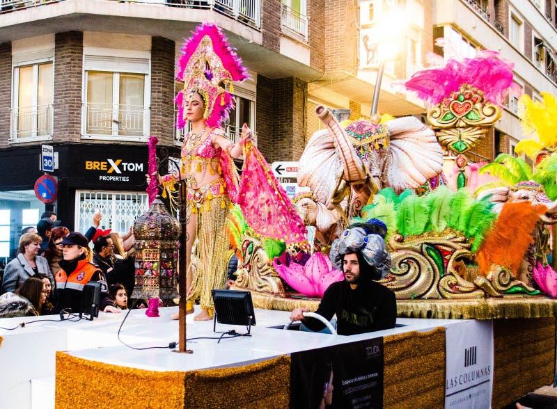 Carnaval de Torrevieja 2018 стоковое изображение