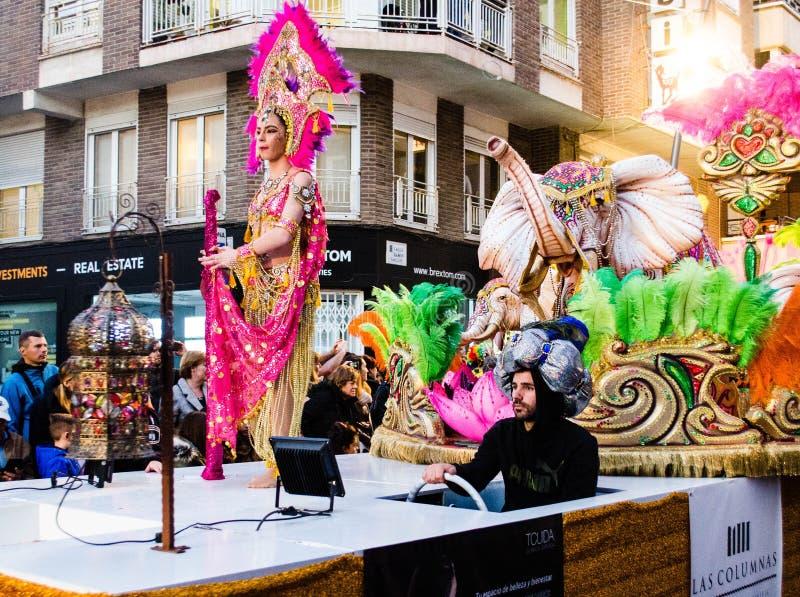 Carnaval de Torrevieja 2018 стоковая фотография