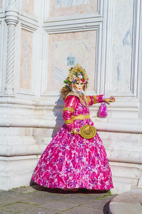 Carnaval 2019 de Veneza fotografia de stock