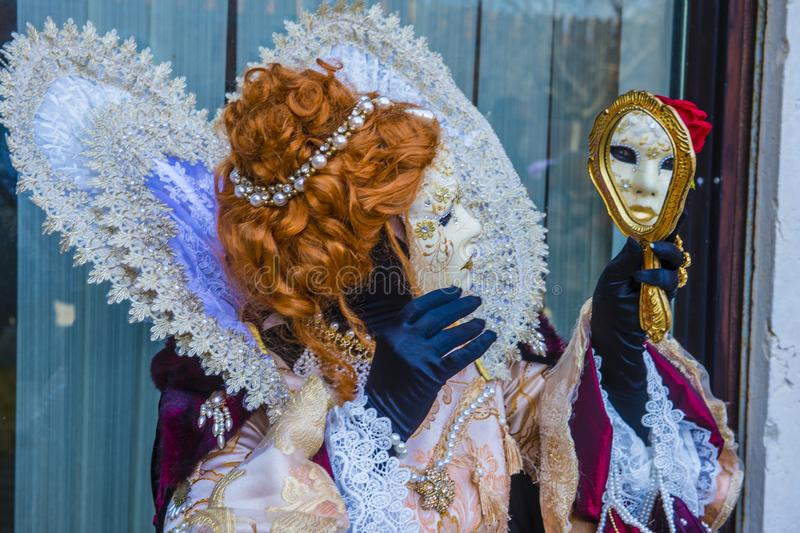 Carnaval 2019 de Veneza fotos de stock royalty free