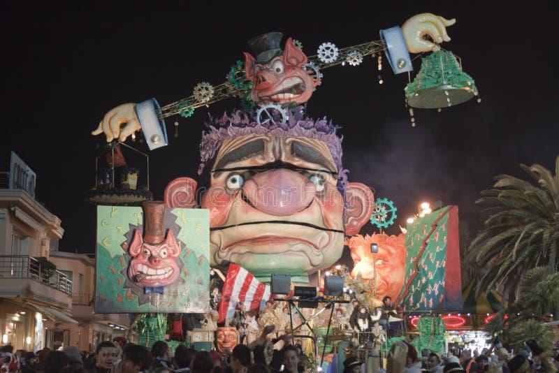 Carnaval de Viareggio foto de archivo