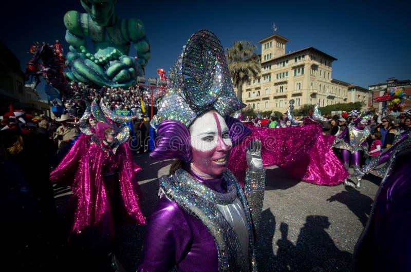 Carnaval de Viareggio 2011, Italia imagen de archivo libre de regalías