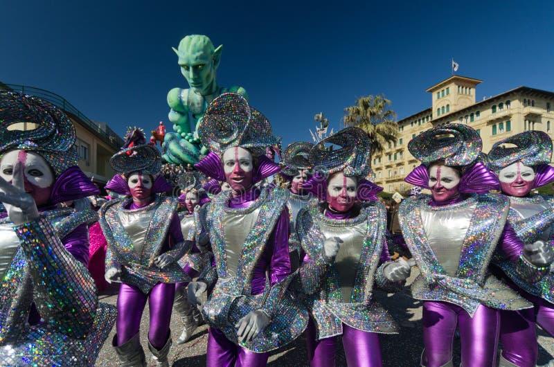 Carnaval de Viareggio 2011, Italia imagen de archivo