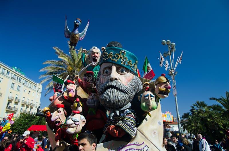 Carnaval de Viareggio 2011, Italy imagens de stock