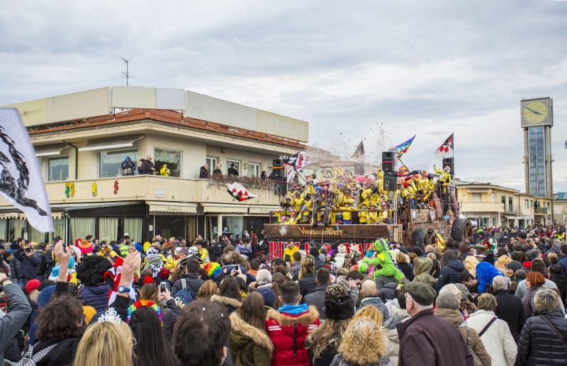 Carnaval de Viareggio fotografía de archivo libre de regalías