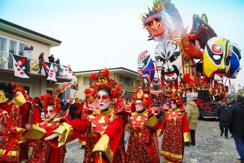 Carnaval de Viareggio foto de archivo libre de regalías