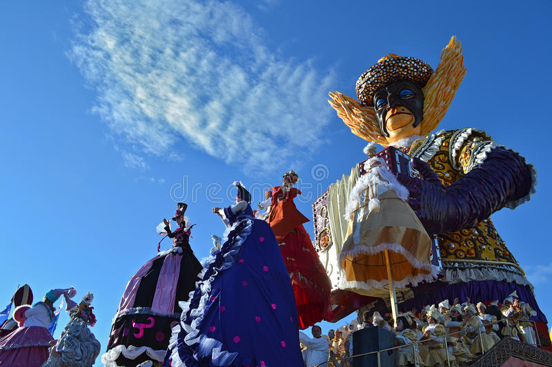 Carnaval de Viareggio, Italie photo stock