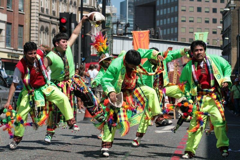 carnaval del pueblo arkivfoton