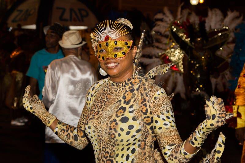 Carnaval del verano en Mindelo, Cabo Verde imagen de archivo libre de regalías