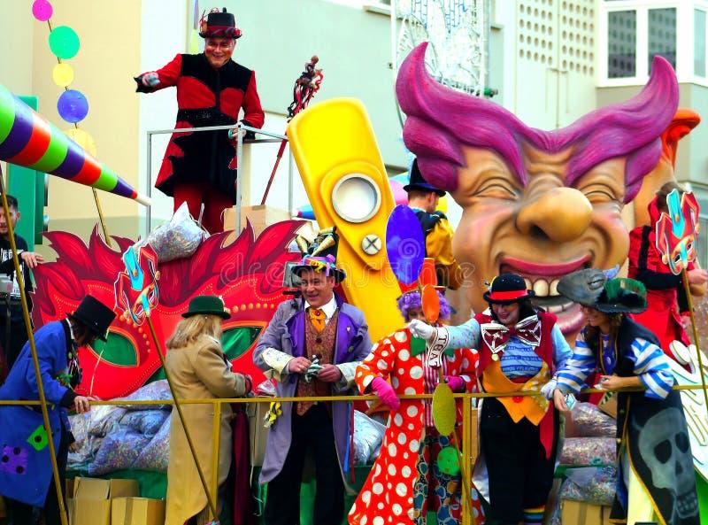 Carnaval do capital de Cadiz, a Andaluzia Espanha o 3 de março de 2019 foto de stock