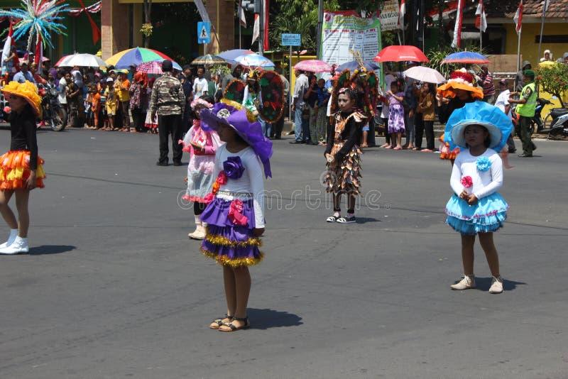 Carnaval do Dia da Independência de Indonésia fotografia de stock royalty free