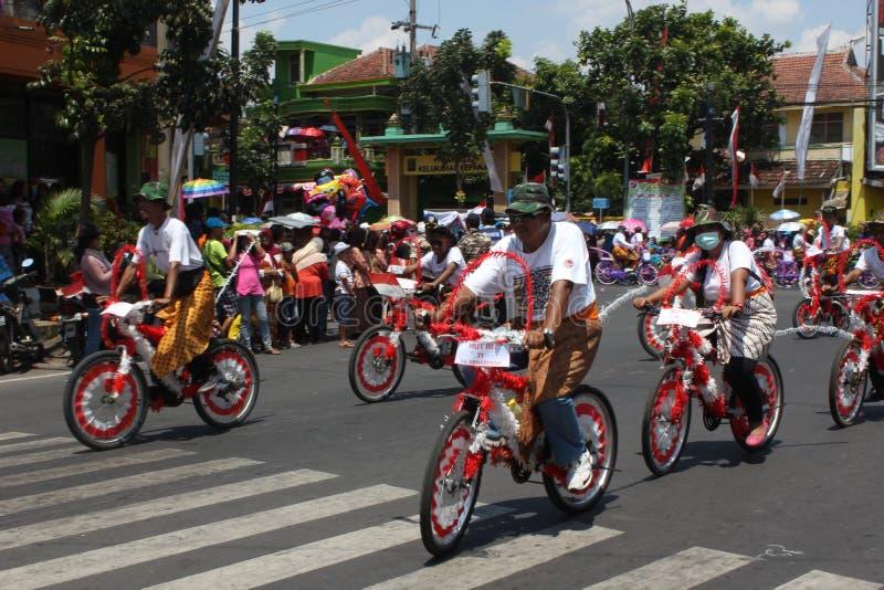 Carnaval do Dia da Independência de Indonésia imagem de stock royalty free