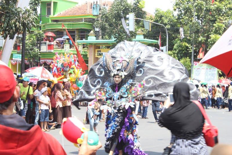 Carnaval do Dia da Independência de Indonésia foto de stock royalty free