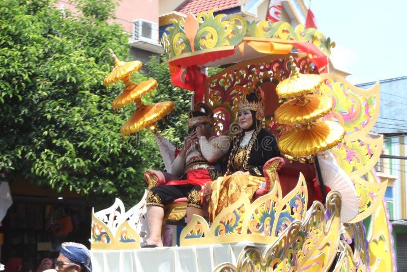 Carnaval do Dia da Independência de Indonésia imagens de stock royalty free