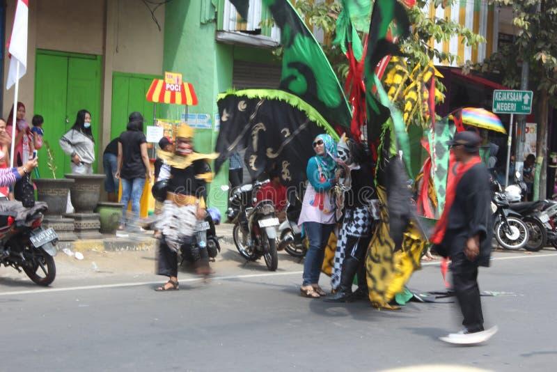 Carnaval do Dia da Independência de Indonésia imagens de stock