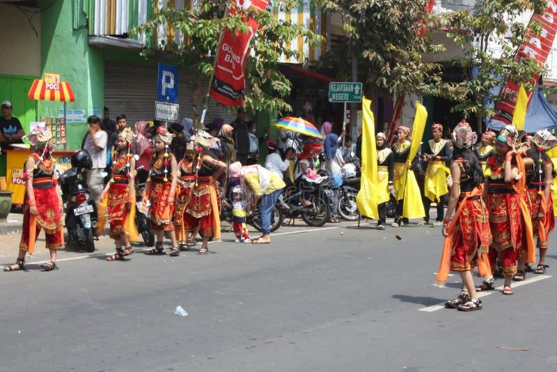 Carnaval do Dia da Independência de Indonésia foto de stock