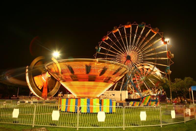 Carnaval do vintage na noite com borrão de movimento fotografia de stock royalty free