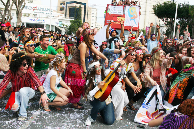 Carnaval em Chipre fotografia de stock royalty free