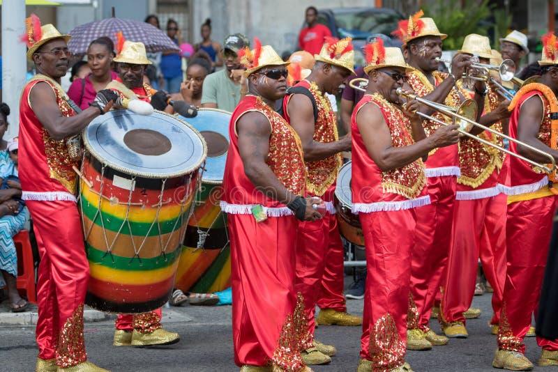 Carnaval em Guadalupe, das caraíbas imagens de stock