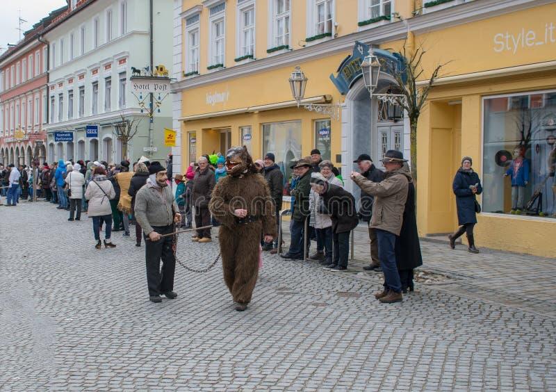 Carnaval em Murnau, Baviera, Alemanha-fevereiro 11,2018 foto de stock