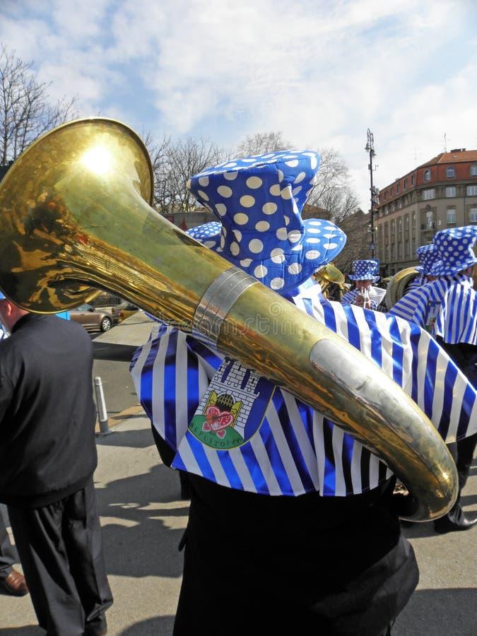 Carnaval em Zagreb, 6 fotografia de stock