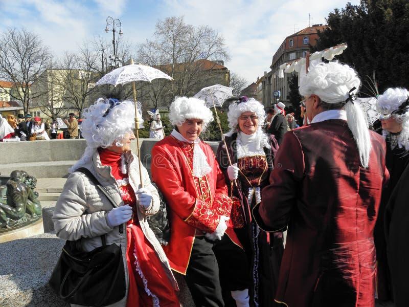 Carnaval em Zagreb, 2 fotografia de stock