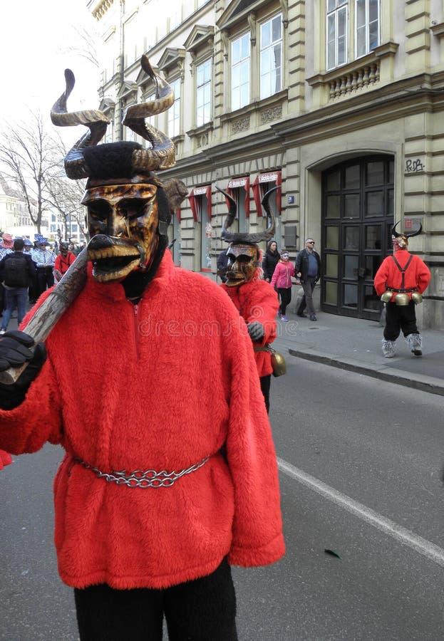 Carnaval em Zagreb, 9 fotos de stock royalty free