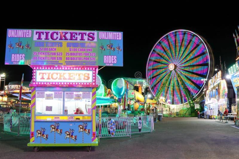 Carnaval en la noche foto de archivo libre de regalías