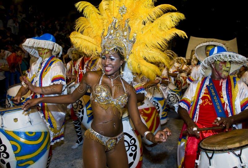 Carnaval en Montevideo foto de archivo