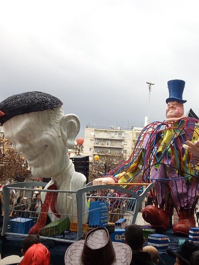 Carnaval en Patras Grecia 2016 fotos de archivo