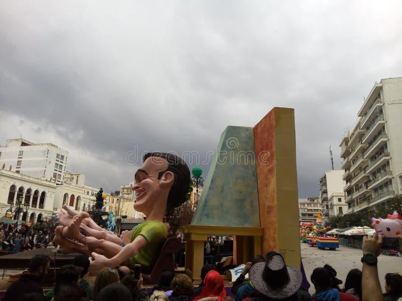 Carnaval en Patras Grecia 2016 imágenes de archivo libres de regalías