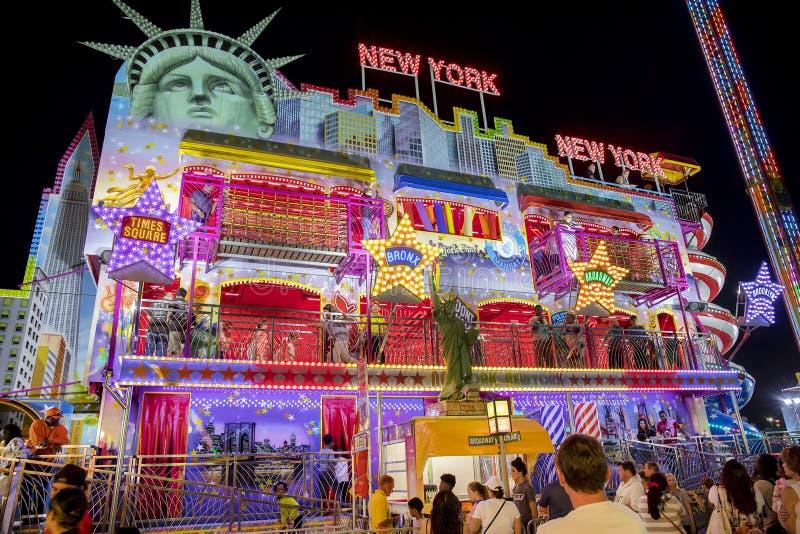 Carnaval escena de Nueva York, Nueva York fotografía de archivo libre de regalías