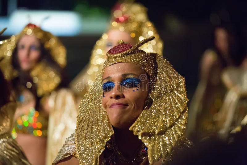 Carnaval espagnol chez Sitges dans la nuit photo libre de droits