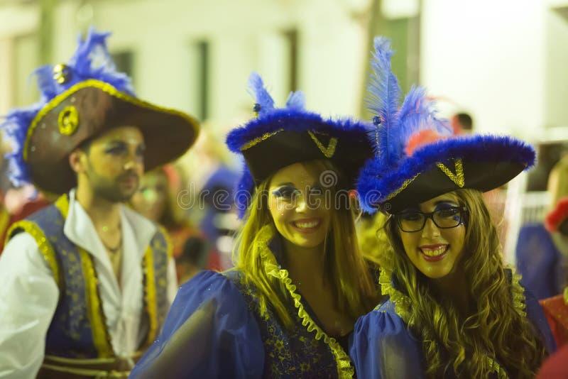 Carnaval espagnol dans la nuit photo stock