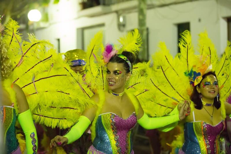 Carnaval espagnol dedans proche photo stock