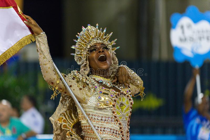 Carnaval 2019 - Estacio de Sa fotos de stock royalty free