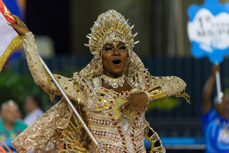 Carnaval 2019 - Estacio de Sa imagem de stock