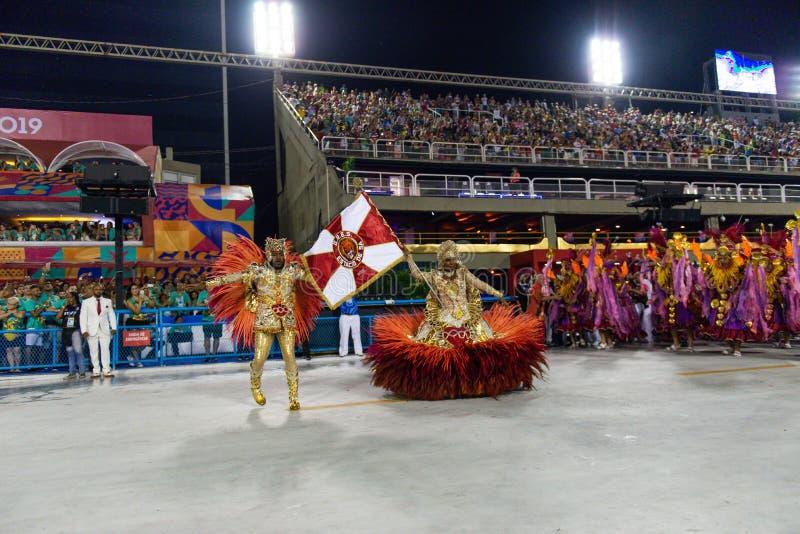 Carnaval 2019 - Estacio de Sa imagem de stock royalty free