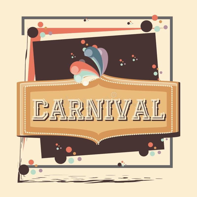 Carnaval-etiket uitstekend pictogram royalty-vrije illustratie