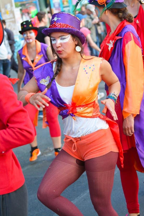 Carnaval 0f de culturen in Berlijn, Duitsland royalty-vrije stock foto