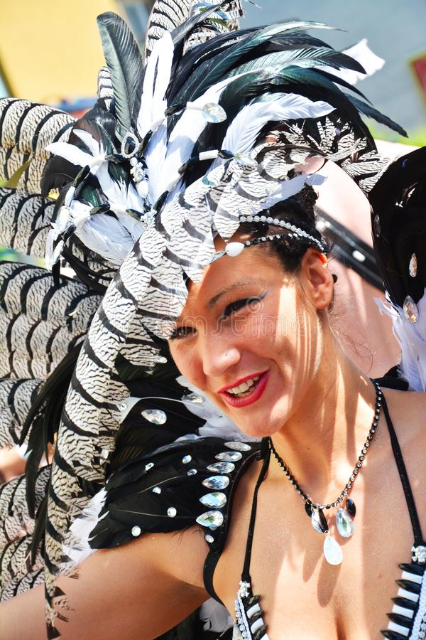 Carnaval 0f de culturen in Berlijn, Duitsland stock afbeeldingen