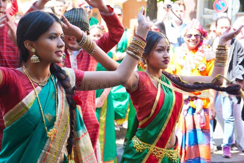 Carnaval 0f de culturen in Berlijn, Duitsland stock afbeelding