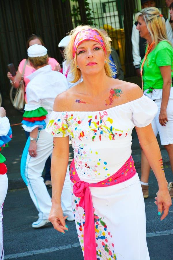 Carnaval 0f de culturen in Berlijn, Duitsland royalty-vrije stock foto's