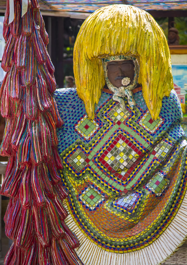 Carnaval Festival. Sculpture in clay of a typical Brazilian Carnival Festival costume wore by country people in the cities of Olinda and Recife in Pernambuco stock images
