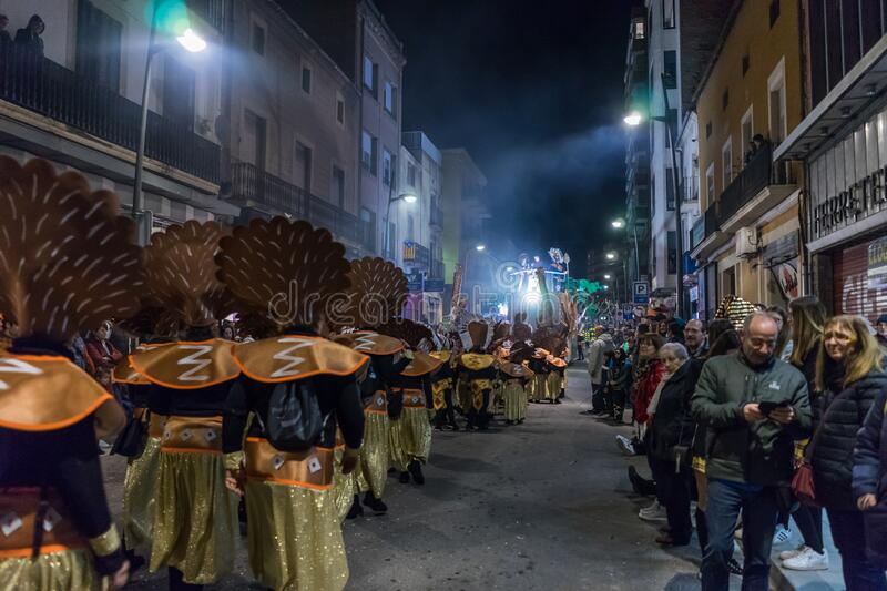 Carnaval fiesta in Spain royalty free stock photography