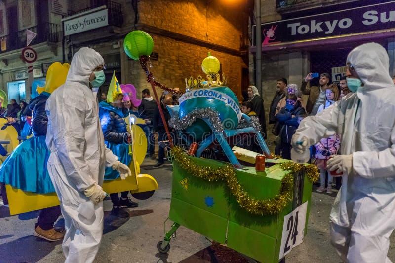 Carnaval fiesta in Spain stock images