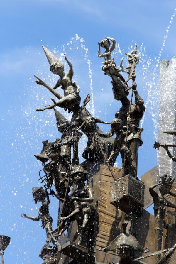 Carnaval-Fontein in Mainz, Duitsland stock foto's