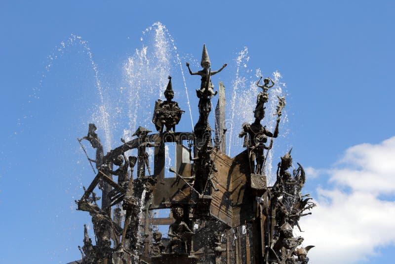Carnaval-Fontein in Mainz, Duitsland royalty-vrije stock afbeeldingen