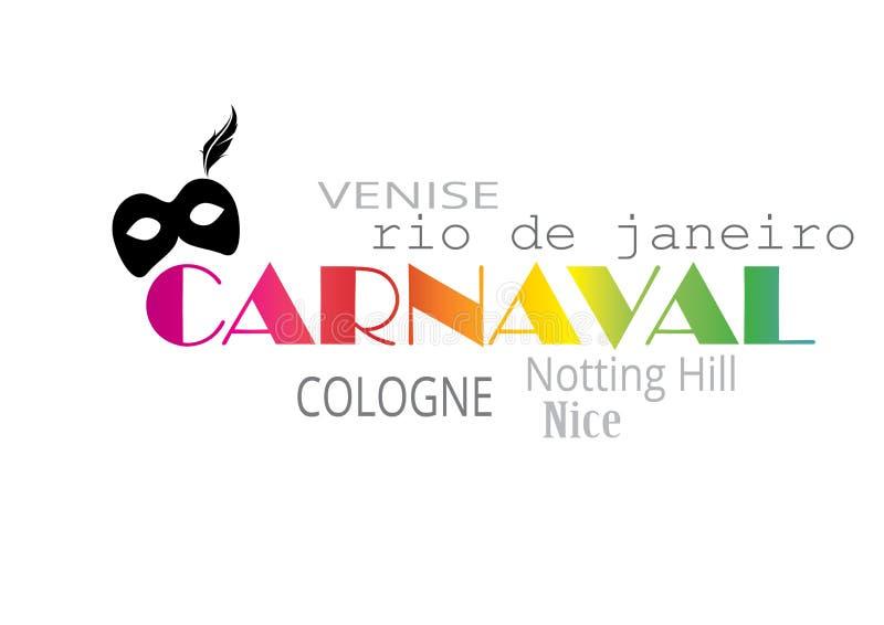 Download Carnaval stock illustration. Image of français, graphique - 88120996