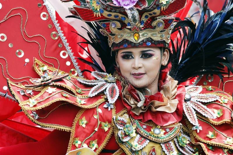 Carnaval indonésio da cultura imagens de stock royalty free